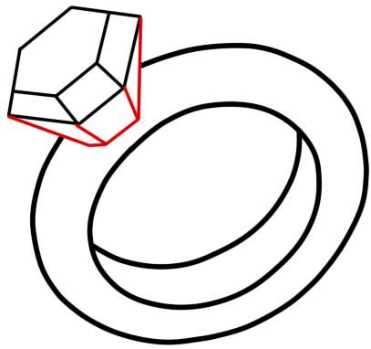 как нарисовать кольцо 10