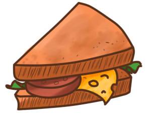 как нарисовать бутерброд шаг 10