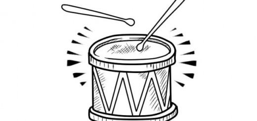 как нарисовать барабан карандашом поэтапно ребенку