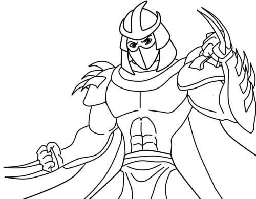 Ninja Turtles Shred Coloring Pages