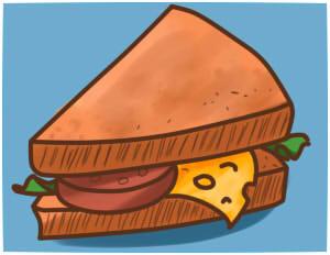 как нарисовать бутерброд шаг 11