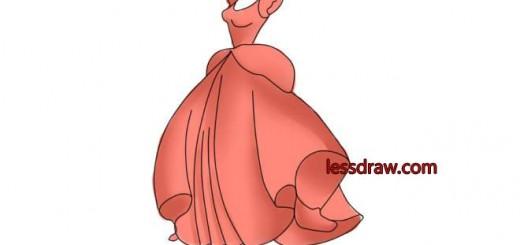 как нарисовать красивое платье карандашом поэтапно