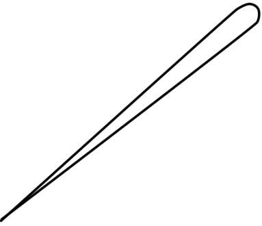 как нарисовать иголку шаг 1