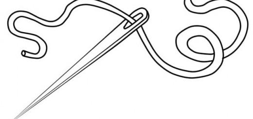 как нарисовать иголку с ниткой карандашом поэтапно