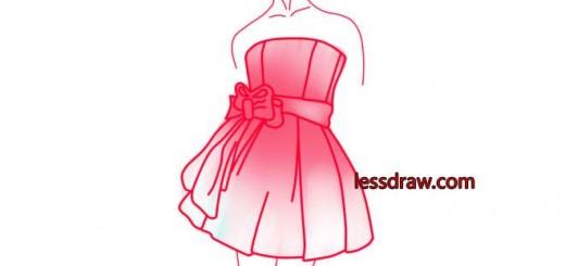 как нарисовать платье поэтапно