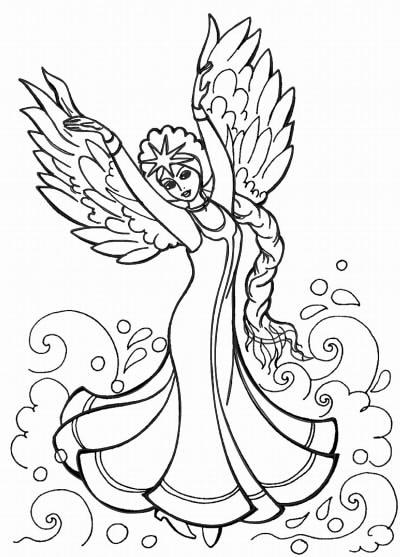 как нарисовать царевну лебедь шаг 12