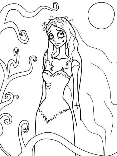 как нарисовать труп невесты шаг 12