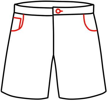 как нарисовать шорты шаг 12