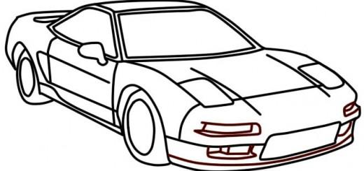 как нарисовать гоночную машину карандашом поэтапно