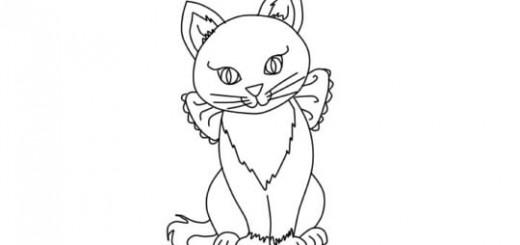 Как ребенку нарисовать кошку поэтапно