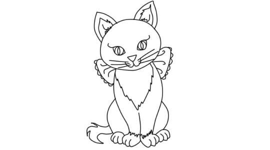 Как нарисовать детям кошку карандашом поэтапно для начинающих детей