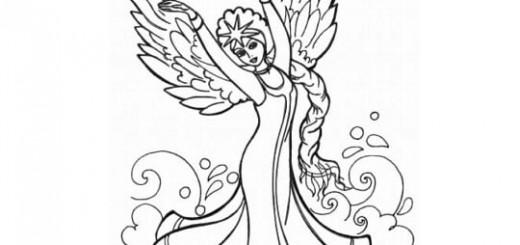 Как нарисовать царевну лебедь