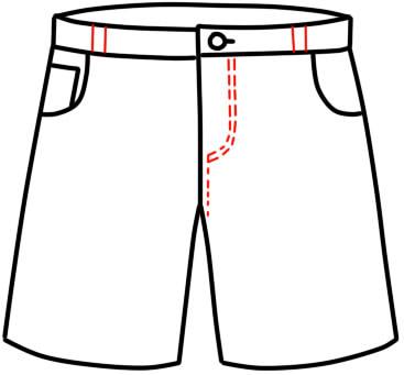 как нарисовать шорты шаг 13