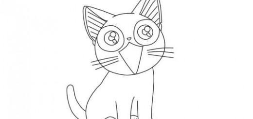 Как нарисовать аниме кошку карандашом поэтапно