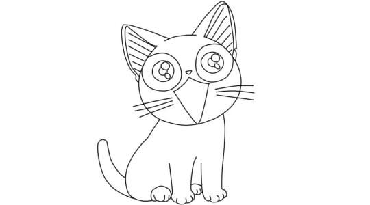 Давайте рисовать рисуем кошку