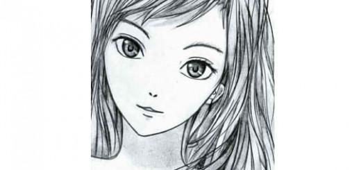 Как нарисовать лицо аниме, рисуем девушку аниме карандашом