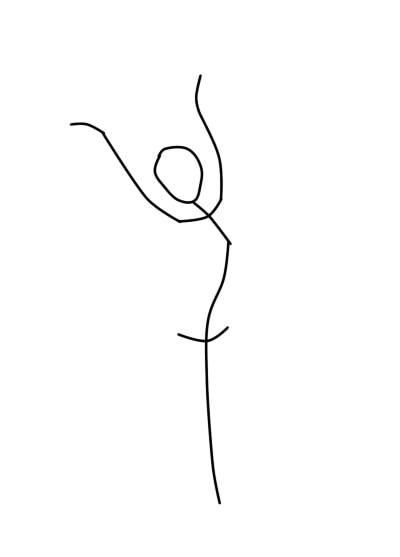 как нарисовать царевну лебедь шаг 1