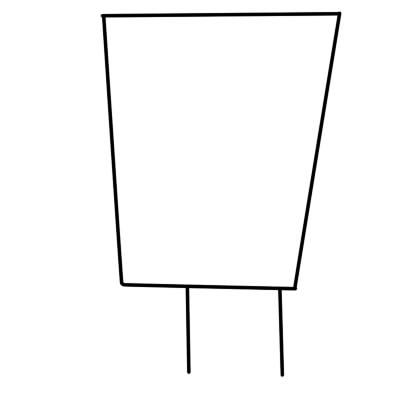 как нарисовать спанч боба поэтапно шаг 1