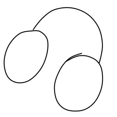 как нарисовать наушники шаг 1