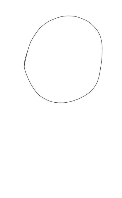 как нарисовать аниме девушку карандашом шаг 1