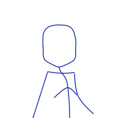 как нарисовать юго шаг 1