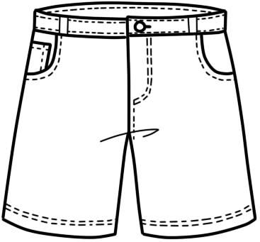 как нарисовать шорты шаг 15
