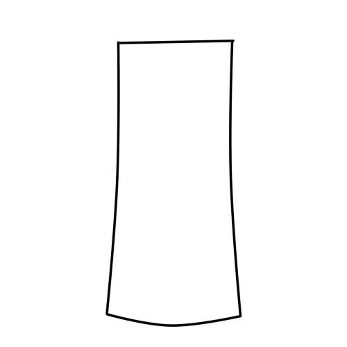 как нарисовать халат шаг 1