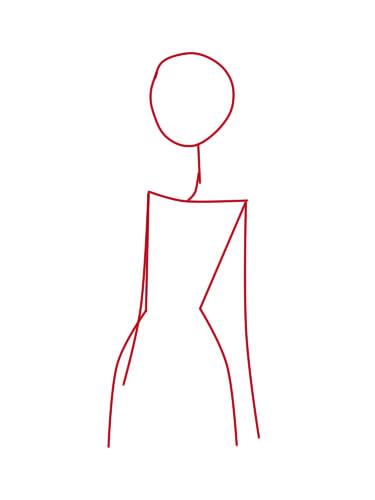 как нарисовать труп невесты шаг 1