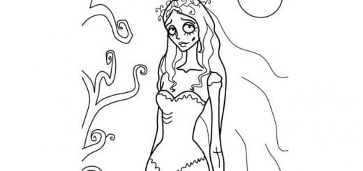 как нарисовать труп невесты