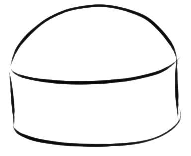 как нарисовать гамбургер шаг 1