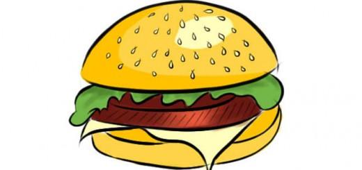 как нарисовать гамбургер поэтапно