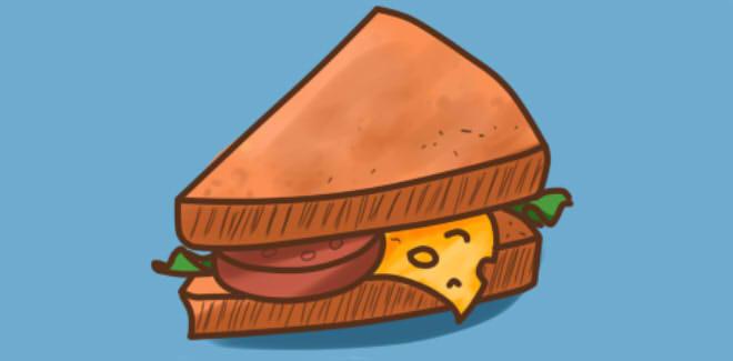 Як намалювати бутерброд