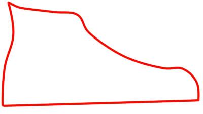 как нарисовать кеды шаг 1