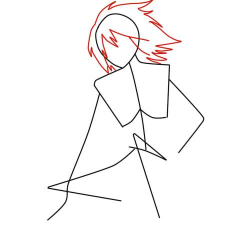 как нарисовать сульфуса шаг 2