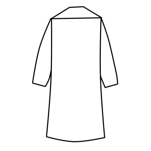 как нарисовать халат шаг 2