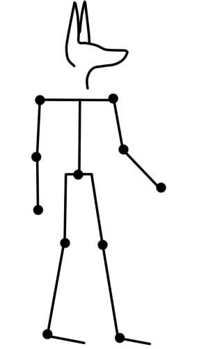 как нарисовать анубиса шаг 2