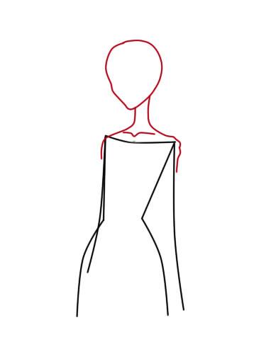как нарисовать труп невесты шаг 2