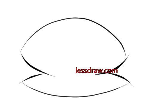 как нарисовать ракушку с жемчужиной шаг 2