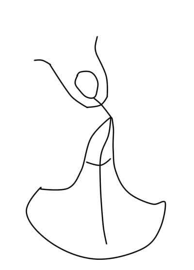 как нарисовать царевну лебедь шаг 2