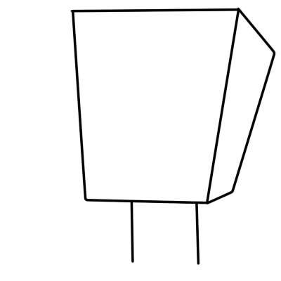 как нарисовать спанч боба поэтапно шаг 2