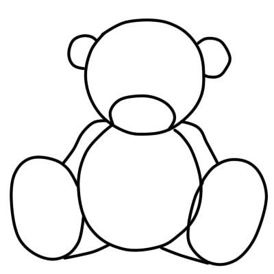 как нарисовать поэтапно мишку тедди шаг 2