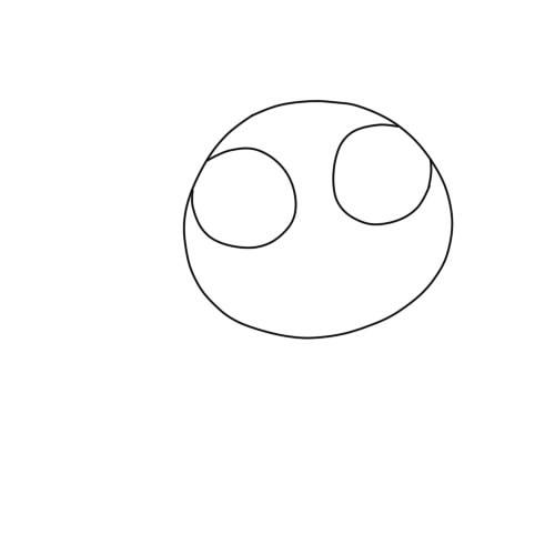 как нарисовать аниме кошку шаг 2
