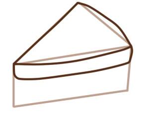 как нарисовать бутерброд шаг 2