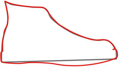 как нарисовать кеды шаг 2
