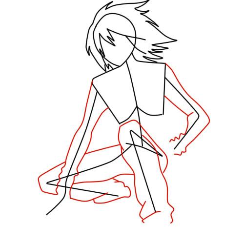 как нарисовать сульфуса шаг 3
