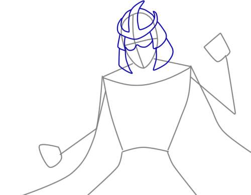 как нарисовать шредера шаг 3