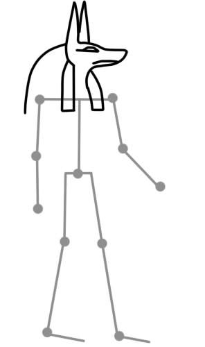 как нарисовать анубиса шаг 3