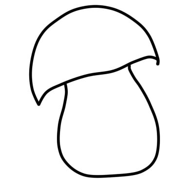 Как нарисовать грибы поэтапно карандашом 3