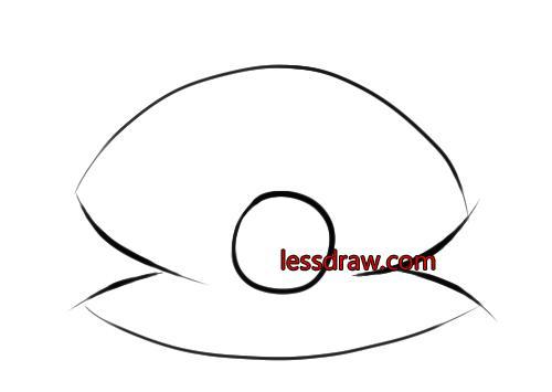 как нарисовать ракушку с жемчужиной шаг 3