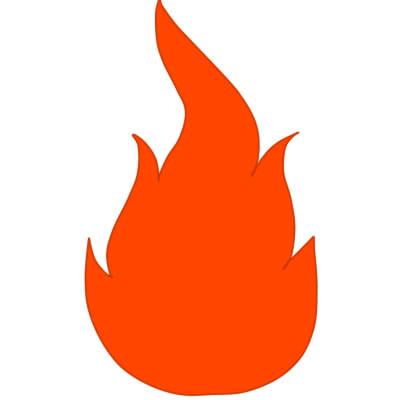 Огонь нарисовать поэтапно